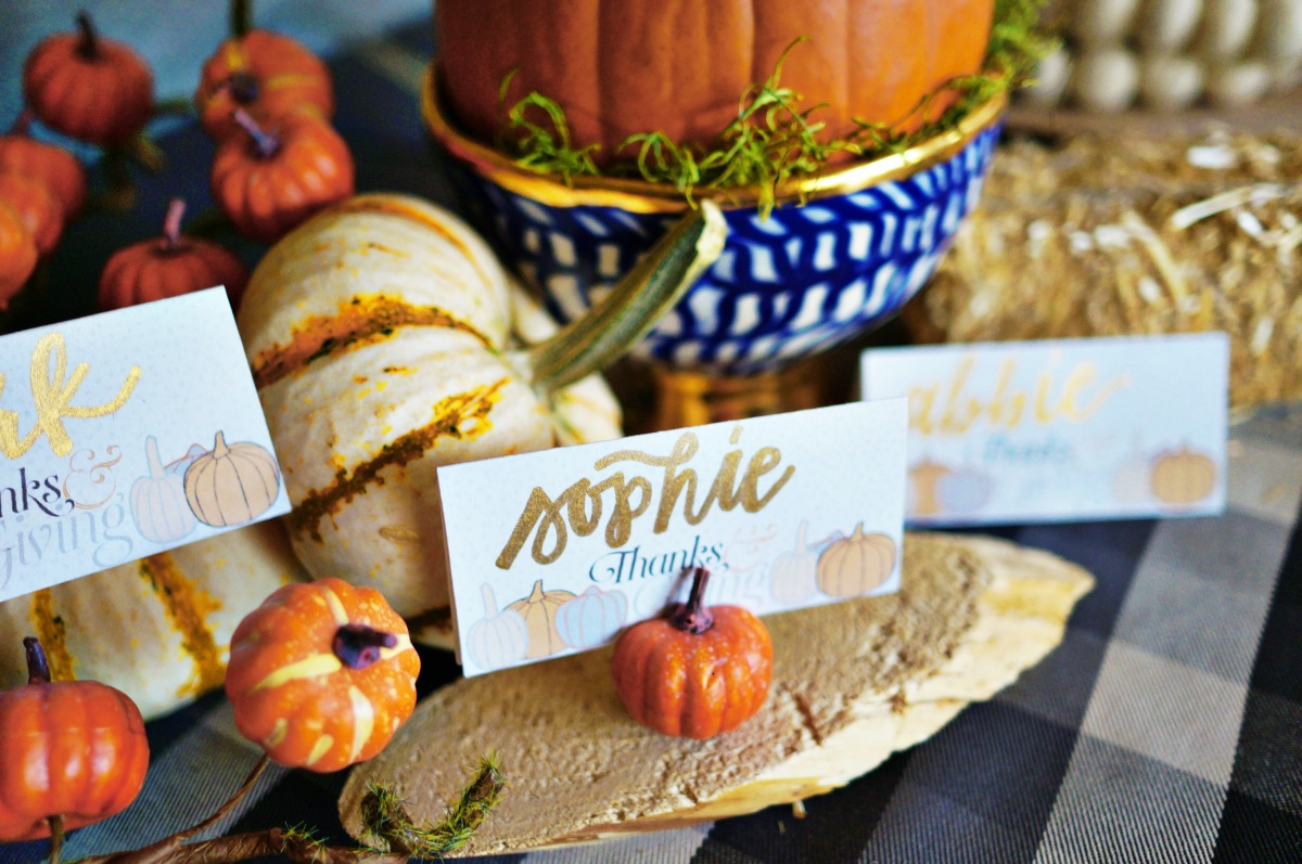 Thanks+Giving Place Cards by Polka Square